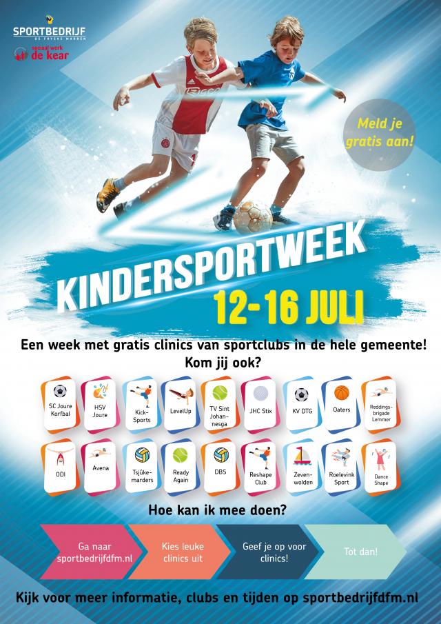 Kindersportweek tijdens zomervakantie